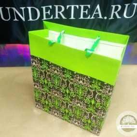 Пакет Орнамент зелёный