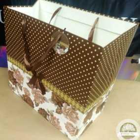 Пакет-сумка люкс кофе-горох