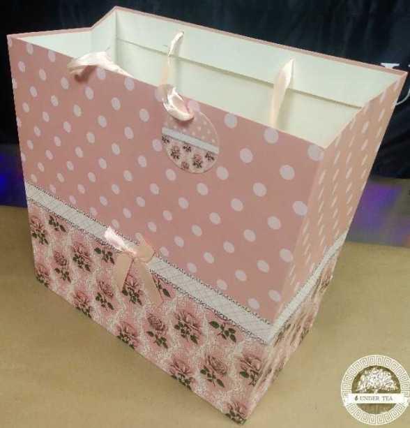 Пакет-сумка люкс бежевый горох